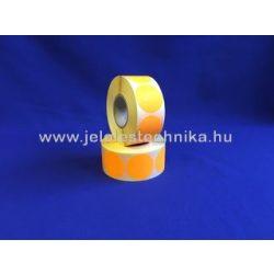 20mm FLUO narancssárga körcímke, 1000db/tekercs