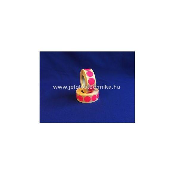 20mm FLUO pink körcímke, 1000db/tekercs