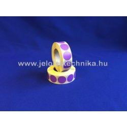 20mm LILA színű körcímke, 1000db/tekercs