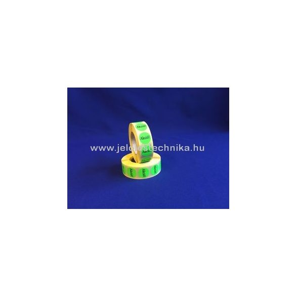 20mm AKCIÓ feliratos fluo zöld körcímke, 1000db/tekercs