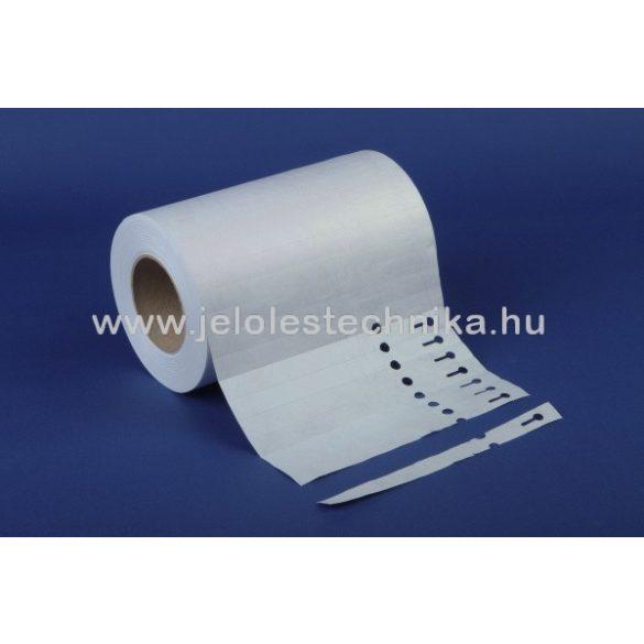 Facsemete címke (17,2×220mm) fehér,Tyvek