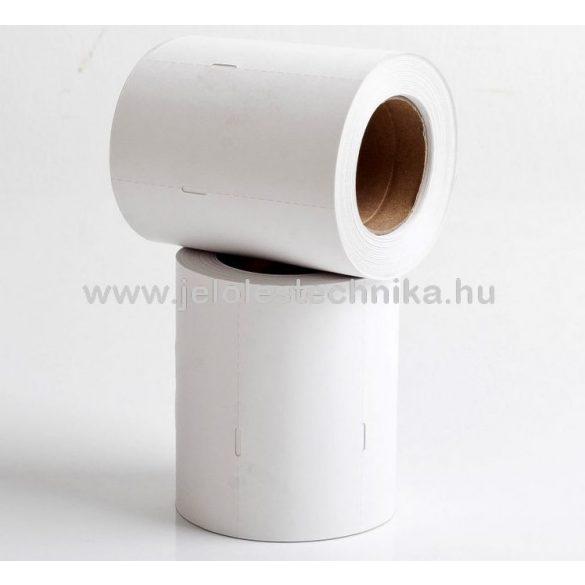 40x80mm thermo -jobb lyukas- fehér kartoncímke, 500db/tekercs
