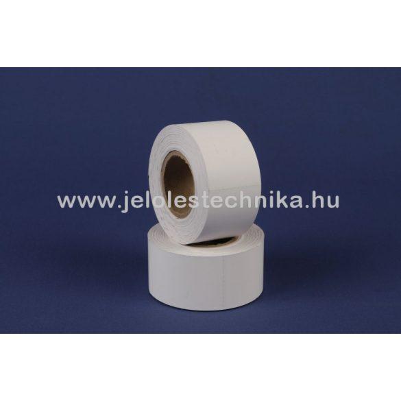 63,5x40mm fehér színű thermo kartoncímke-marker jellel, 400db/tekercs