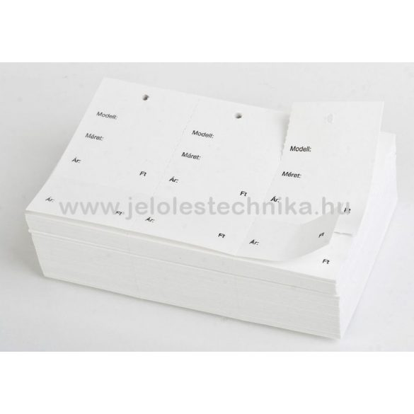 Etikett ruhára perforált (feliratos) 150db/csomag