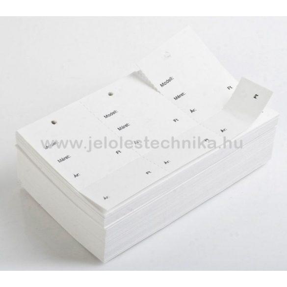 Etikett ruhára perforált (feliratos) 250db/csomag