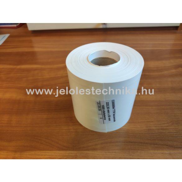 Facsemete címke (12,7×160mm) fehér,Tyvek
