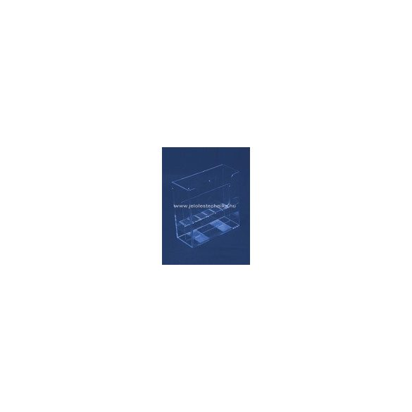 2 rekeszes 2xA5 FALI szórólaptartó+ elválasztó elem