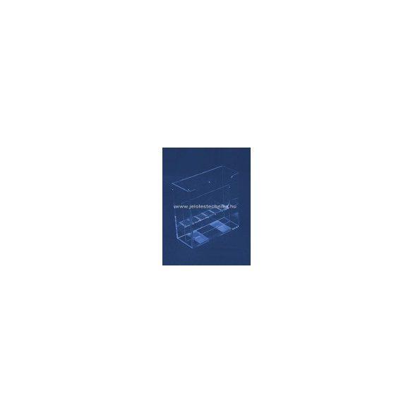 2 rekeszes FALI 2xA4 szórólaptartó (elválasztó elemmel)
