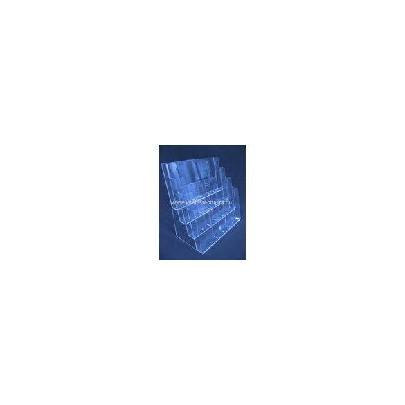 4 rekeszes ASZTALI / FALI 4xA4 fekvő, univerzális szórólaptartó