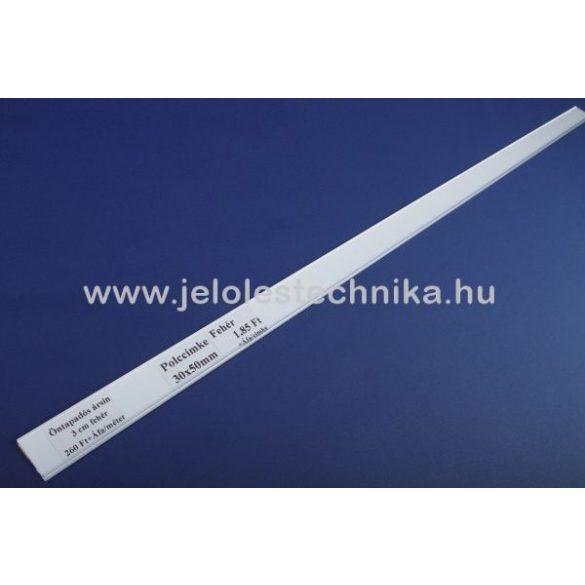 Öntapadós ársín polcszélre (3cm) fehér