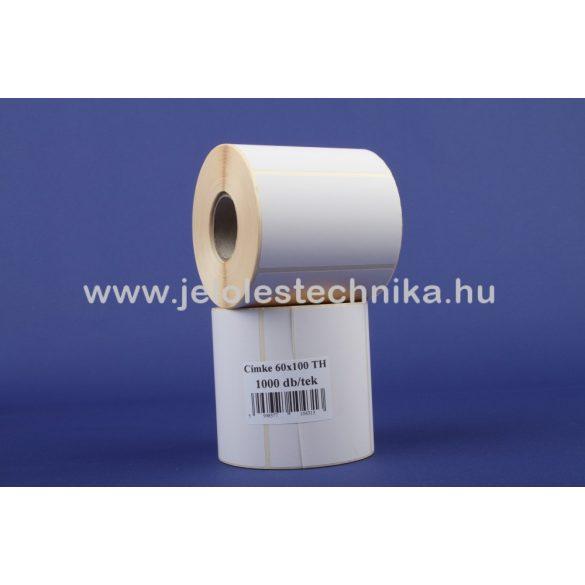 60x100mm VELLUM (matt papír)öntapadós címke erősített ragasztóval 1000db/tekercs