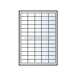 Íves A4 etikett = 38x21,2mm; 65db/ív; 100 ív/doboz