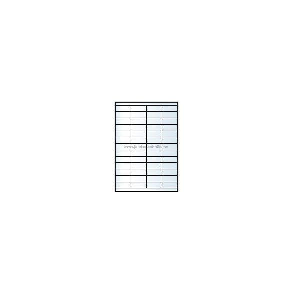 Íves A4 etikett = 52,5x21,2mm; 56db/ív; 100 ív/doboz
