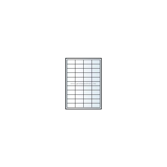 Íves A4 etikett = 48,5x25,4mm; 44db/ív; 100 ív/doboz