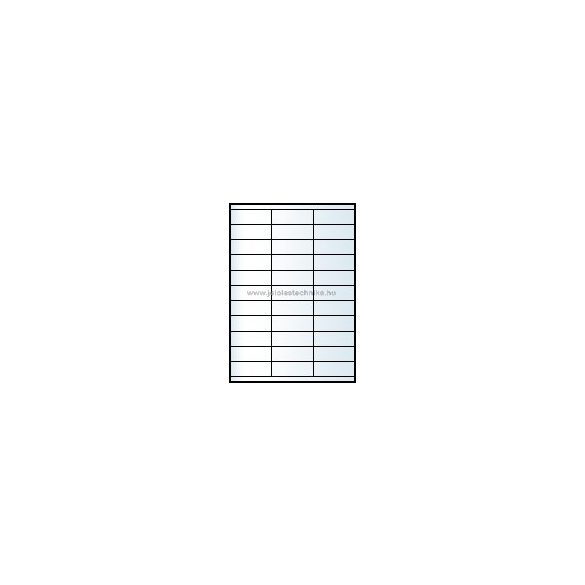 Íves A4 etikett = 70x25,4mm; 33db/ív; 100 ív/doboz