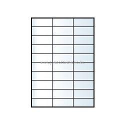 Íves A4 etikett = 70x29,6mm; 30db/ív; 100 ív/doboz