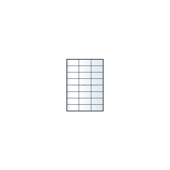 Íves A4 etikett = 70x37mm; 24db/ív; 100 ív/doboz