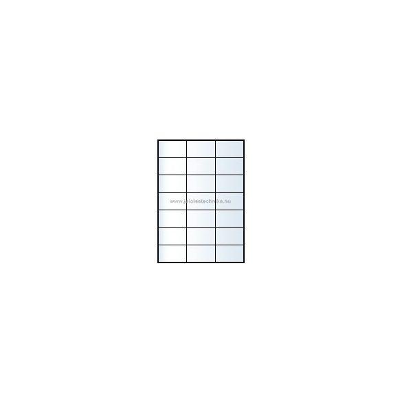 Íves A4 etikett = 70x42,3mm; 21db/ív; 100 ív/doboz