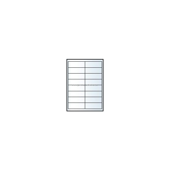 Íves A4 etikett = 99x34mm; 16db/ív; 100 ív/doboz