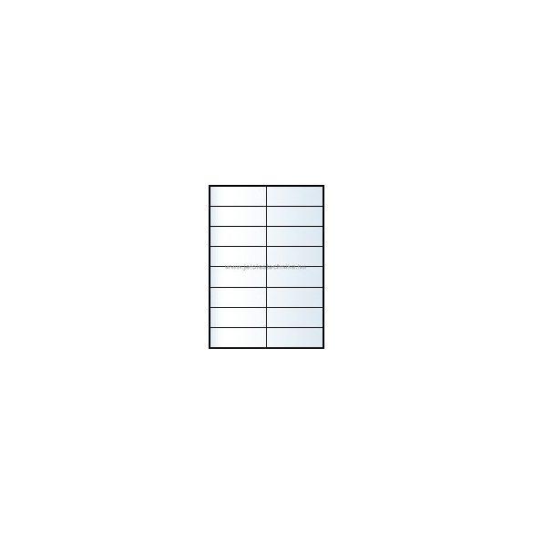 Íves A4 etikett = 105x33,8mm; 16db/ív; 100 ív/doboz