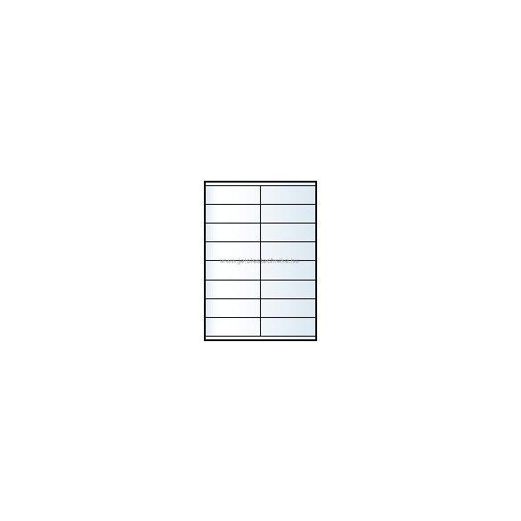 Íves A4 etikett = 105x35mm; 16db/ív; 100 ív/doboz