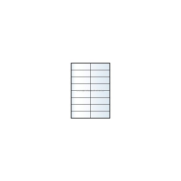 Íves A4 etikett = 105x37mm; 16db/ív; 100 ív/doboz