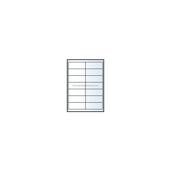 Íves A4 etikett = 99x38mm; 14db/ív; 100 ív/doboz