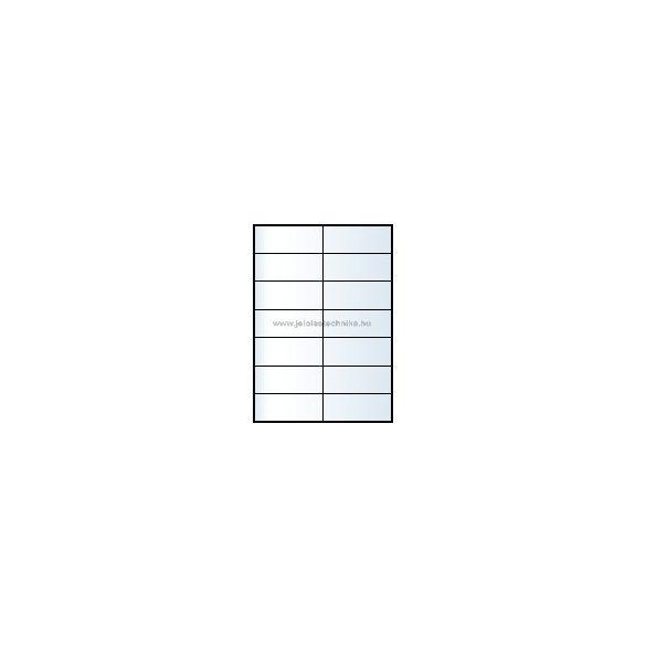Íves A4 etikett = 105x42,4mm; 14db/ív; 100 ív/doboz