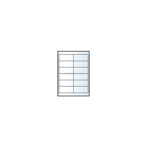 Íves A4 etikett = 97x42,4mm; 12db/ív; 100 ív/doboz