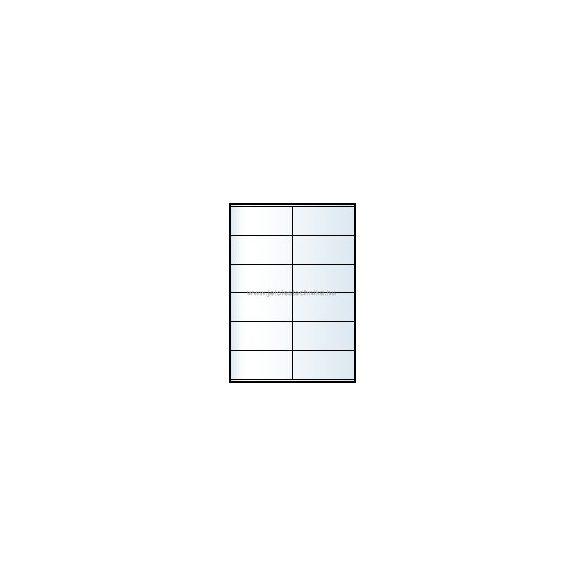 Íves A4 etikett = 105x48mm; 12db/ív; 100 ív/doboz