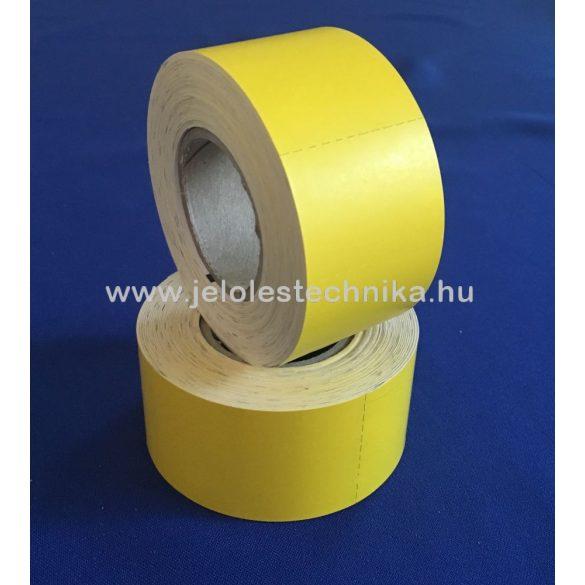 63,5x40mm citrom színű thermo kartoncímke-marker jellel, 400db/tekercs