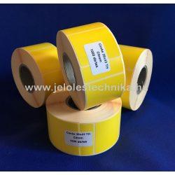 38x43mm THERMO citromsárga öntapadós címke,1000db/tekercs
