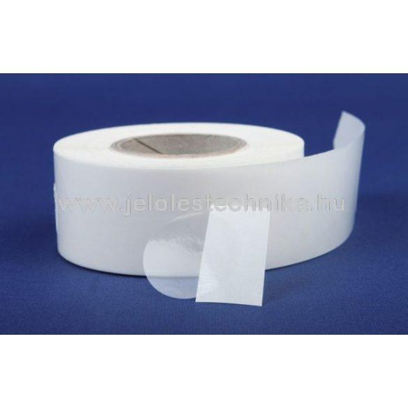 20mm PPClear (átlátszó) körcímke, 1 000db/tekercs