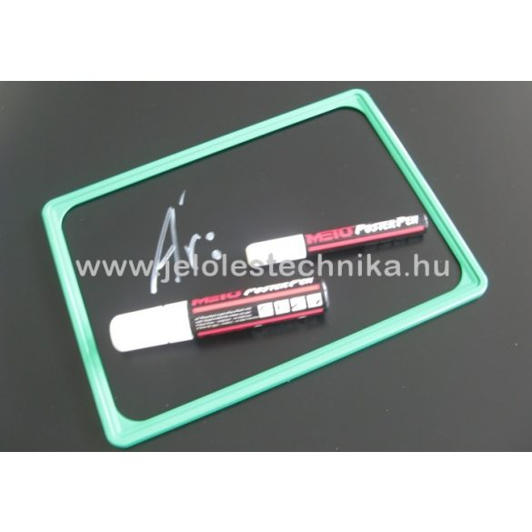 Fekete műanyag tábla (krétafilccel írható) A4