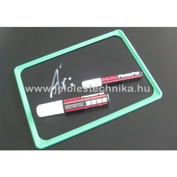 Fekete műanyag tábla (krétafilccel írható) A5