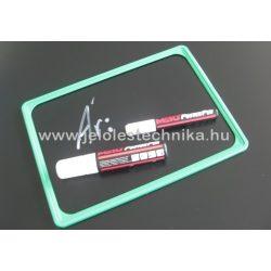 Fekete műanyag tábla (krétafilccel írható) A6