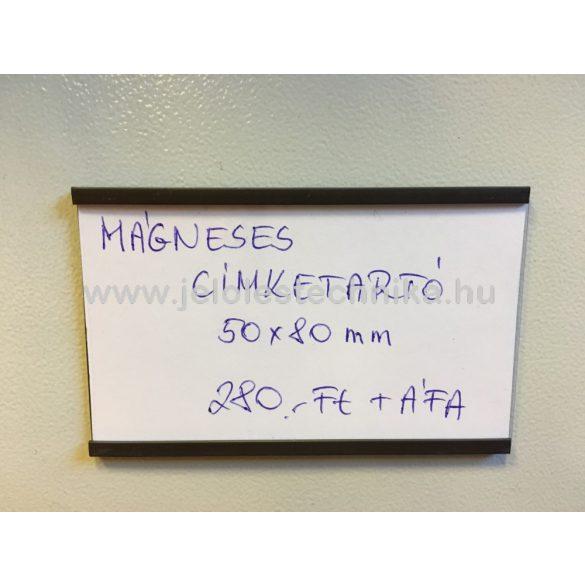 Mágneses címketartó 50x80mm