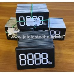 Digitális árjelző 30x55mm