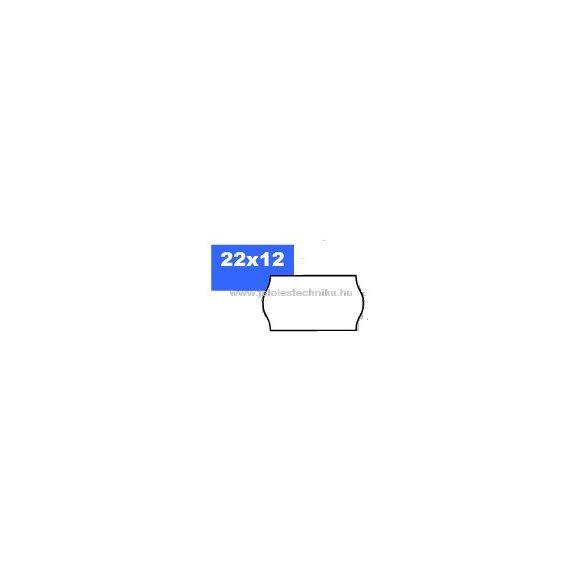 22x12mm OLASZ fehér árazószalag