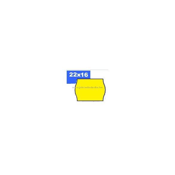 22x16mm OLASZ citrom színű árazószalag
