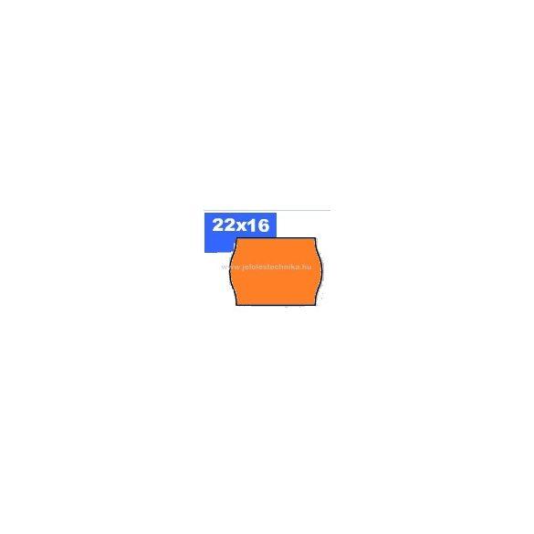 22x16mm OLASZ narancs színű árazószalag