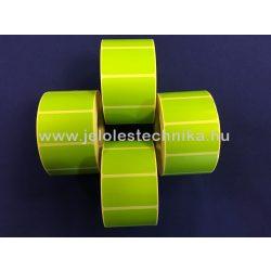 25x45mm Thermo ZÖLD színű öntapadós címke, 1 000db/tekercs
