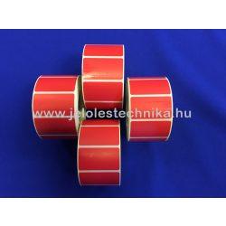 25x45mm Thermo PIROS színű öntapadós címke, 1 000db/tekercs