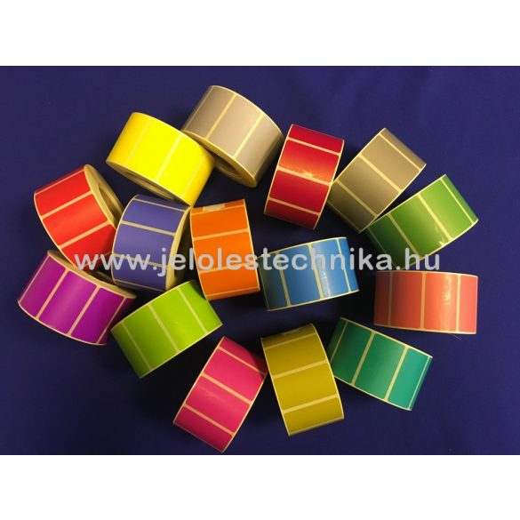 25x45mm Thermo LILA színű öntapadós címke, 1 000db/tekercs