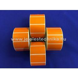 25x45mm Thermo NARANCSSÁRGA színű öntapadós címke, 1 000db/tekercs