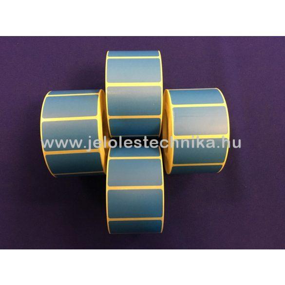 25x45mm Thermo KÉK színű öntapadós címke, 1 000db/tekercs