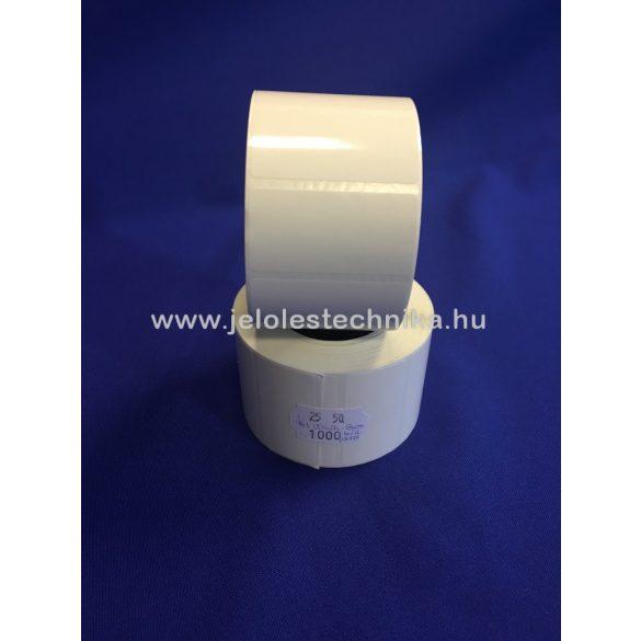 """25x50mm Pet White Gloss  biztonsági """"VOID"""" feliratos öntapadós címke, 1 000db/tek"""