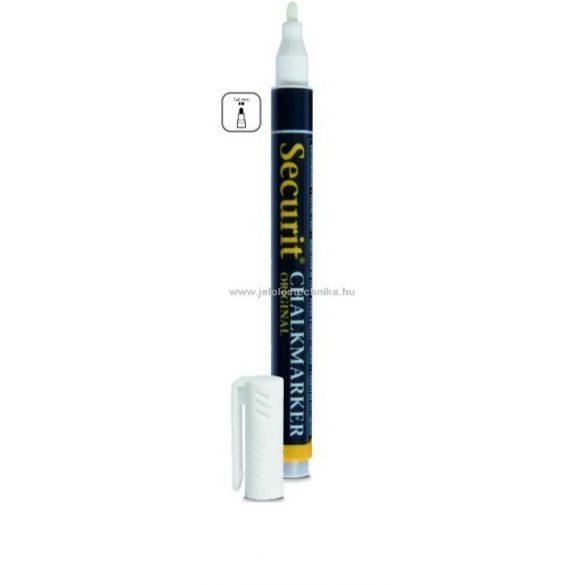 Folyékony krétamarker fehér - vékony 1mm heggyel