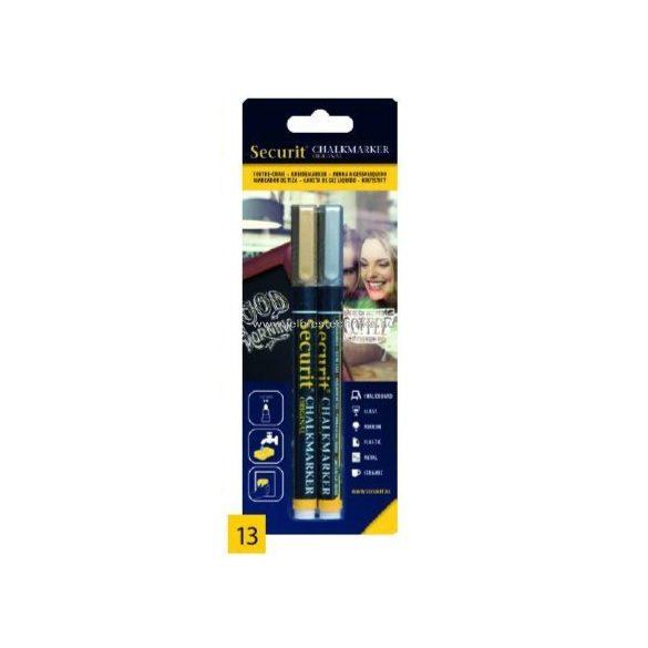 Folyékony krétamarker Arany/Ezüst 2 darabos készlet - vékony 1mm heggyel