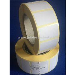 15x25mm VELLUM (matt papír) öntapadós címke; 1 000 db/tekercs